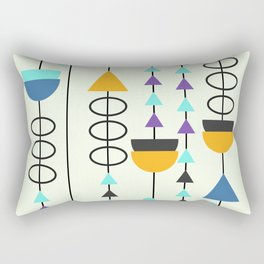 Kitty mid-century decor Rectangular Pillow