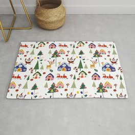 Santa Claus White #Christmas #Holiday Rug