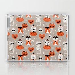 Halloween Kitties (Gray) Laptop & iPad Skin