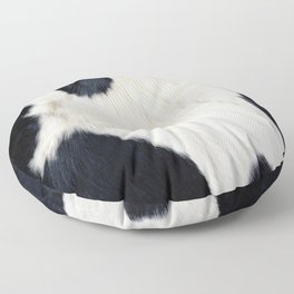 Cowhide Black and White Floor Pillow