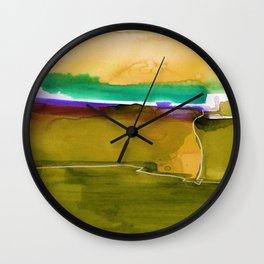 Meditations No. 33F by kathy Morton Stanion Wall Clock
