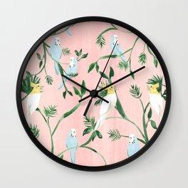 Jungle Birds Wall Clock
