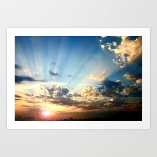 Glorious Sunset Art Print