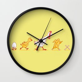 Chickolution 2 Wall Clock