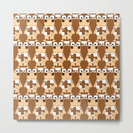 Super cute cartoon cow in brown and white - a moo-st have design for  cow enthusiasts! Metal Print