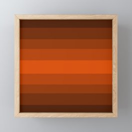 Sienna Spiced Orange - Color Therapy Framed Mini Art Print