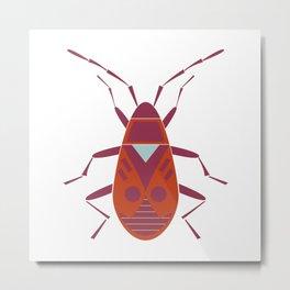 Firebug geometric illustration Metal Print