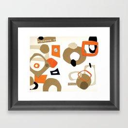 Circles and cat Framed Art Print