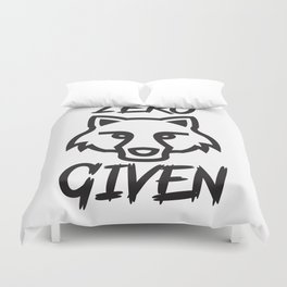 None Given Duvet Cover