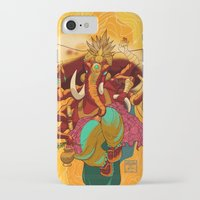 ganesh iPhone & iPod Cases featuring Ganesh by marekolani