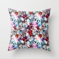 floral pattern Throw Pillows featuring Floral Pattern by Eduardo Doreni