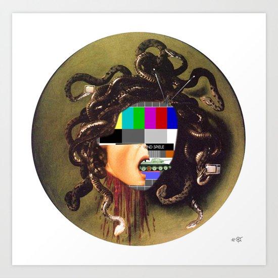 Caravaggio´s Medusa Collage 2 Art Print