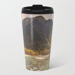 Azusa River and Autumn colours in Kamikochi, Japan Travel Mug
