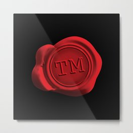 TM Wax Seal Metal Print