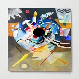 Kandinsky One Center Metal Print