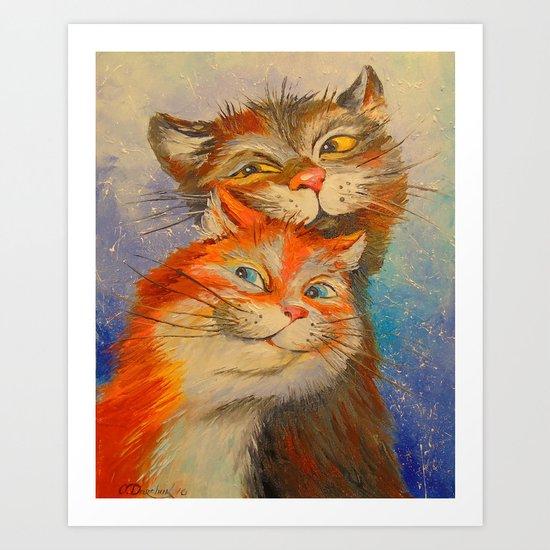 Lovers seals Art Print