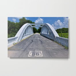 Close up of this Rainbow Curve Bridge Constructed in 1923 Metal Print