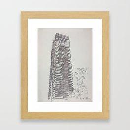 Chicago - Aqua Tower Framed Art Print