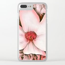 Pink Tan Flower Macro Clear iPhone Case