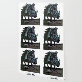 Rhinoceros on wheels Wallpaper