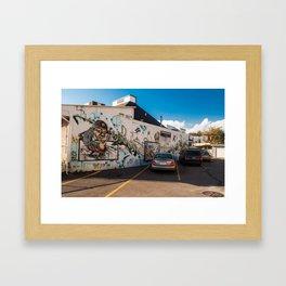 Burger Flip Street Art Framed Art Print
