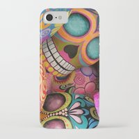 sugar skulls iPhone & iPod Cases featuring sugar skulls by wet yeti