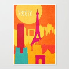 travel to Paris Canvas Print