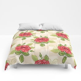 Red Rose Bunches Comforters