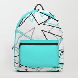 Abstract turquoise combo pattern . Backpack