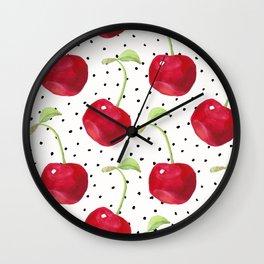 Cherry pattern II Wall Clock