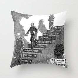 The descent of the modernist Throw Pillow