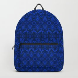 Blue Damask Wallpaper Backpack
