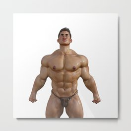 wet Hunk Metal Print