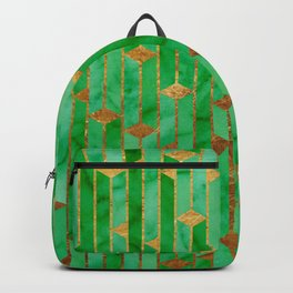 Marble Skyscrapers - Green Backpack