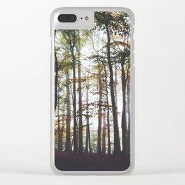 Autumn Forest Trees Clear iPhone Case