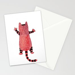 Red cat Stationery Cards