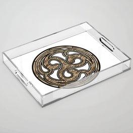 Bronze Medallion Acrylic Tray