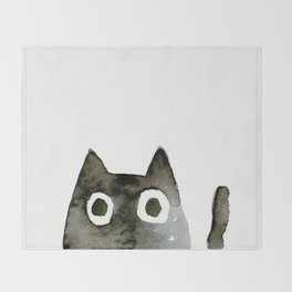 I Love Cats No.13 by Kathy Morton Stanion Throw Blanket