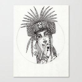 JennyMannoArt Graphite Drawing/Aiyana Canvas Print