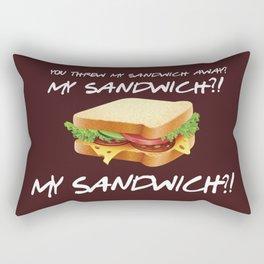 You threw my sandwich away - Friends TV Show Rectangular Pillow