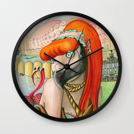 When self hatred reflections become insatiable gluttonous starving cannibals Wall Clock