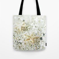 starfish Tote Bags featuring Starfish by Monika Strigel