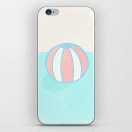 Floating ball iPhone Skin