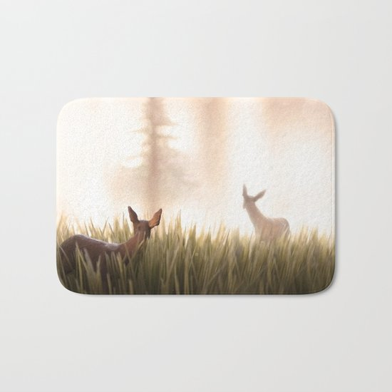 let it go, my deer Bath Mat