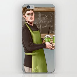 Your friendly pagan god barista iPhone Skin