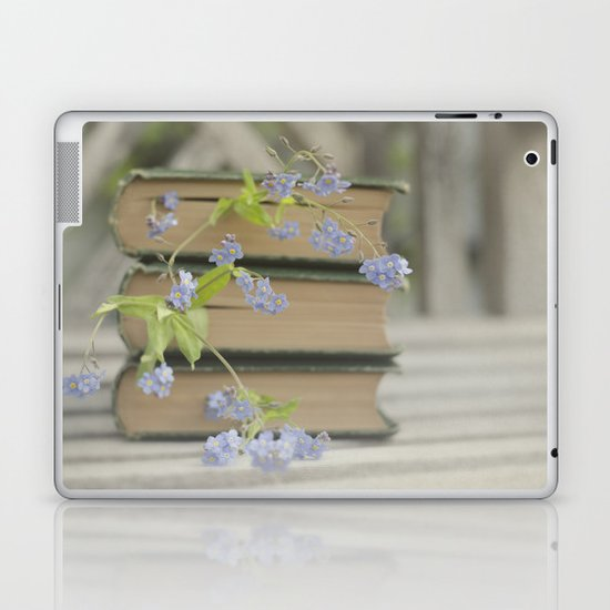 Forget Me Not Bookmark Laptop & iPad Skin