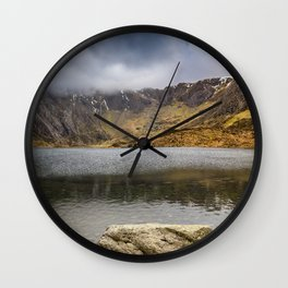 Lake Idwal Winter Wall Clock