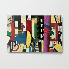 The City - La Ville by by Fernand Léger Metal Print