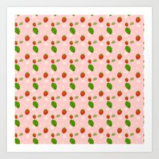 Strawberry Plant Art Print