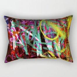 graffiti deepred Rectangular Pillow
